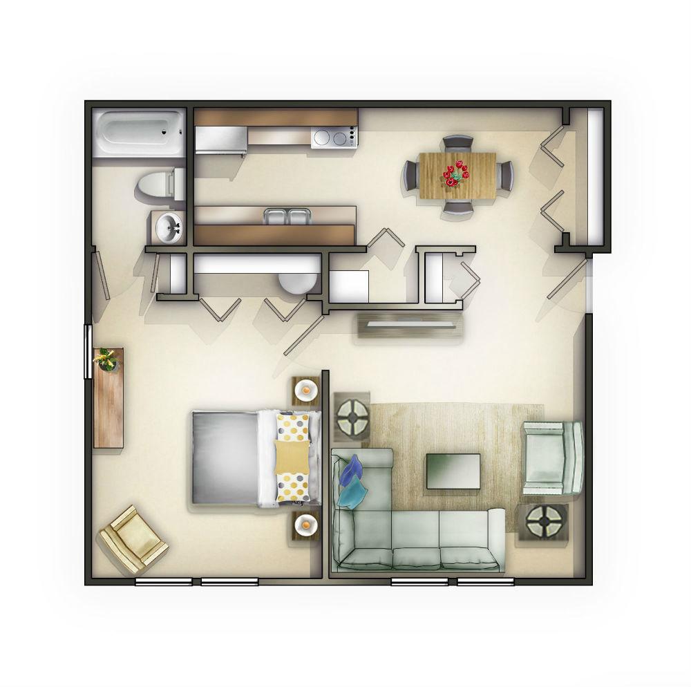 100 Large Apartment Floor Plans Bedrooms Modern 2